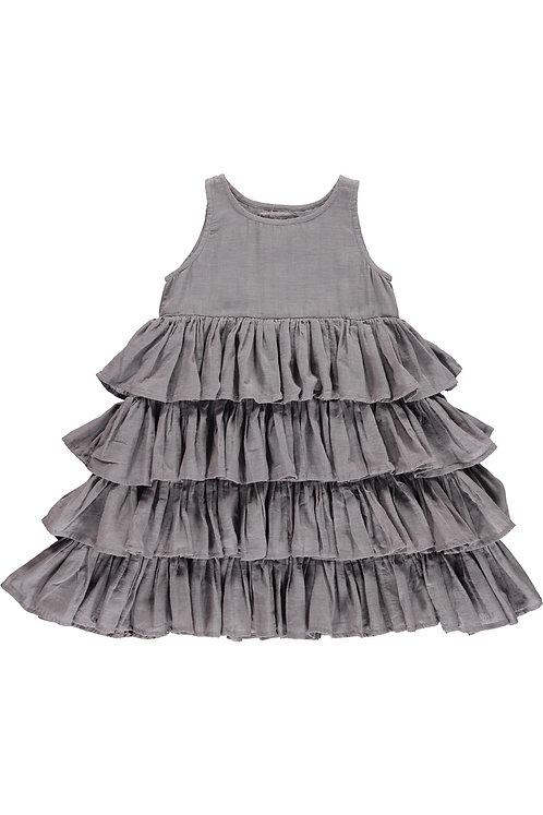 3827J - Frill dress - Mink