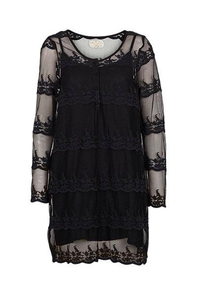 2279L - Lace dress - Black