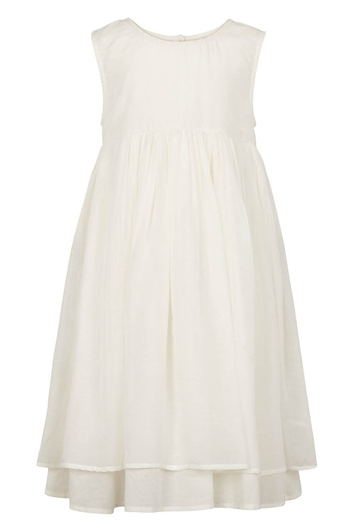 2780B - Viscose Dress w. ribbon - Off-white