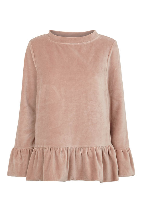 3443C - Blouse w.frill - Rosa