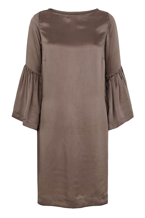 3491K - Viscose Dress - Warm grey/Mole