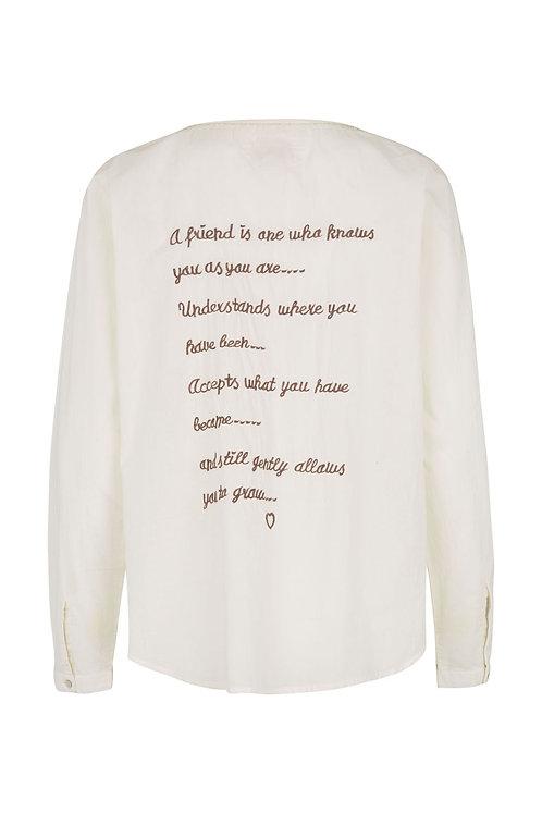 2603B - Poem Shirt  - Off-white