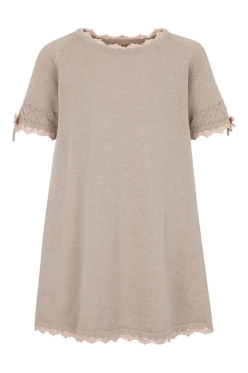 2741i - Cotton knit dress - Sand