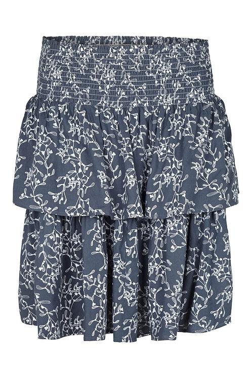 3612K - Frill Skirt - Blue Grey print
