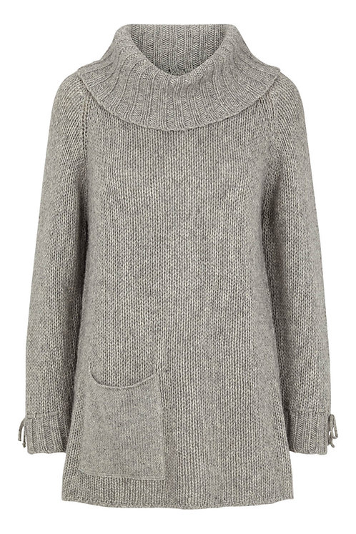 3624H - Wool Bamboo Sweater - Light grey