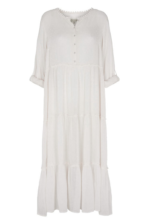 3811B - Long Modal dress - Off-white