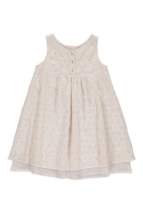 3828J - Embroidery dress - Mink