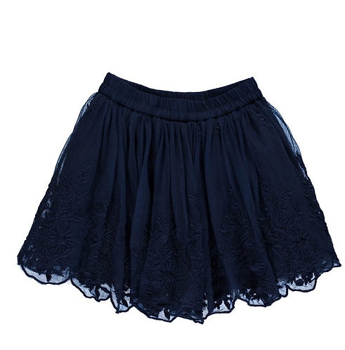2925G - Skirt w.lace - Blue