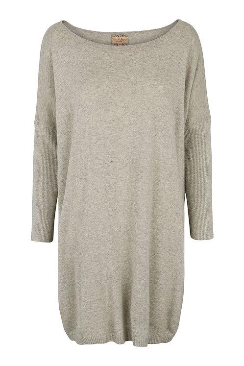 2546H - Cashblend Blouse  - Light grey