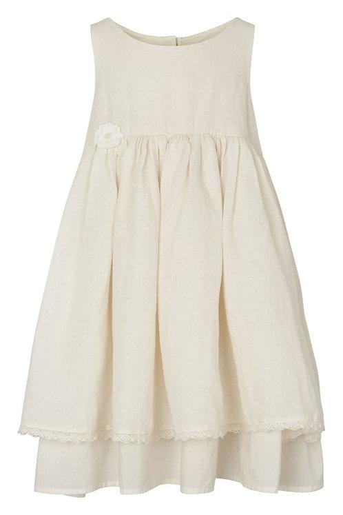 3701B - Linen dress - Off.White