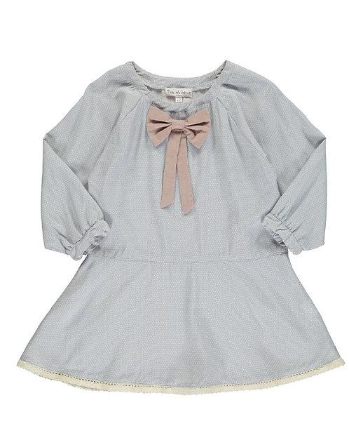2884D - Dress w.bow - Print