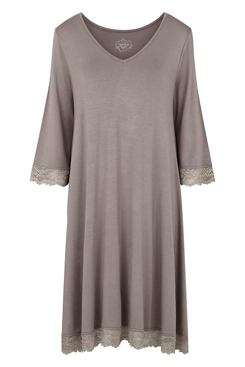 Bohemia dress - Silk mink