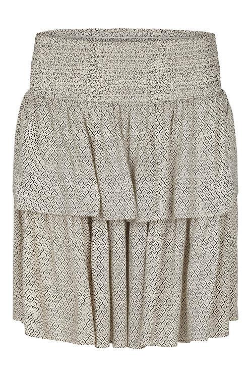 3612A - Frill Skirt - Beige print