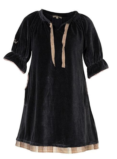 1560D - Velvet dress - Blue