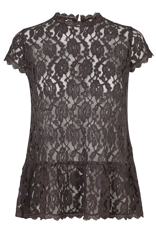 2854 - Lace top - Granit grey
