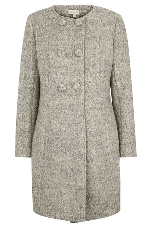 3173H - Wool Coat – Light grey
