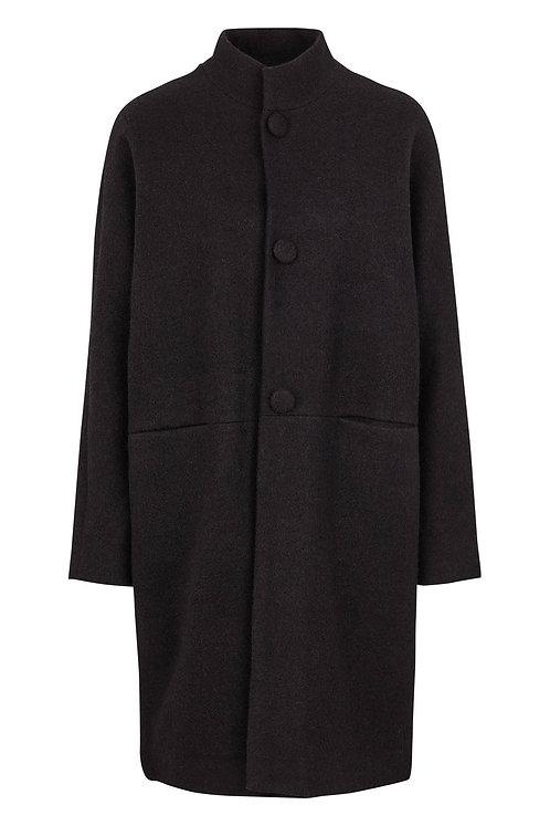 3430L - Wool coat - Dark shadow