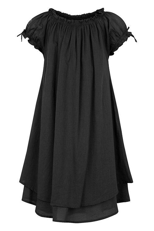 3832L - Dress w.smock - Black