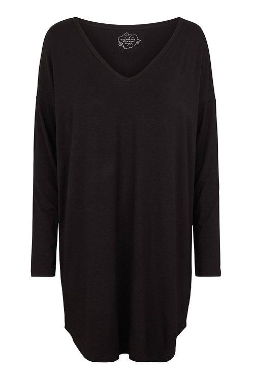 3789L - Loose fit blouse - Black
