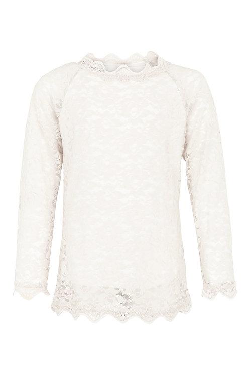 3458B - Lace Blouse - Off-white