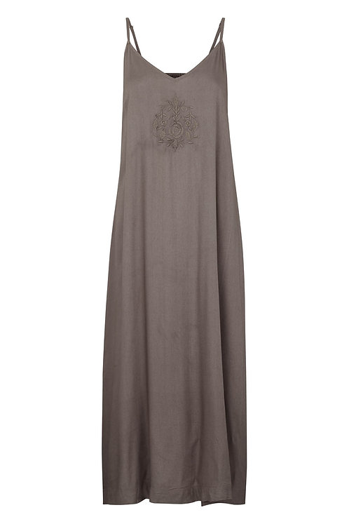 Viscose strap dress - Silk mink
