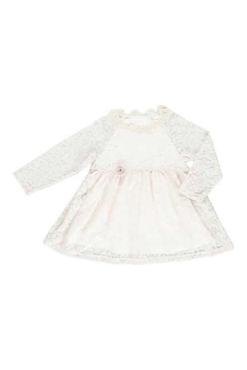 3457B - Lace dress - Off-white