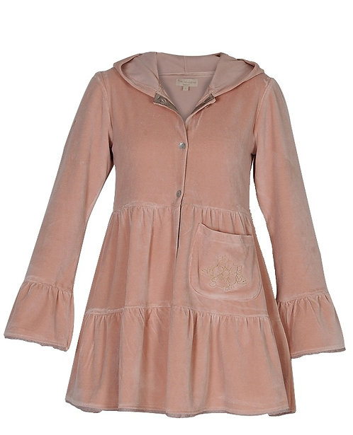 1551A - Tunica coat w.hood - Creme