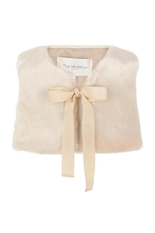 3649 - Faux fur waist coat - Beige
