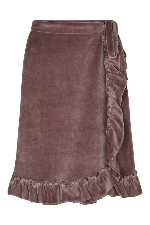 3765D - Velvet skirt - Twilight rose