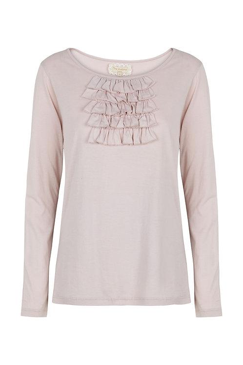 2565D - T-shirt w.frill - Pail purple