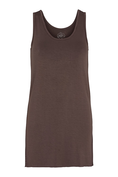 2499J - Long top w.diamonds - Mocha