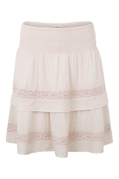 3572C - Skirt w.frill - Mauve