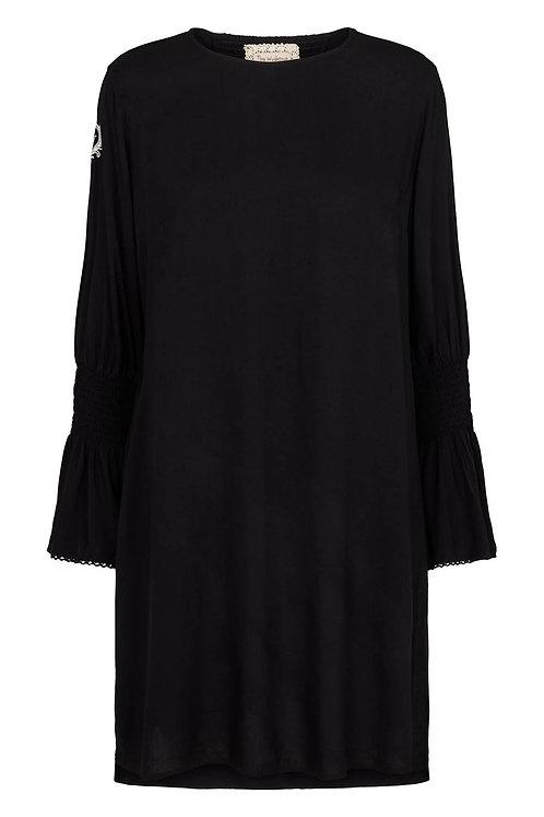 3606L - Dress w.smock - Black