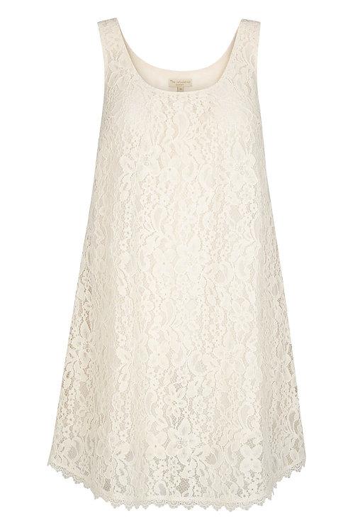 2655B - Lace dress - Creme