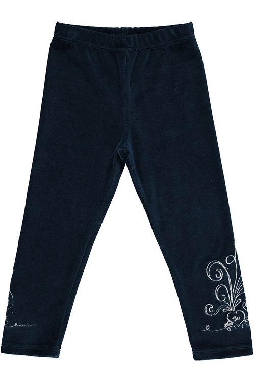 2510G - Velvet leggings - Midnight blue