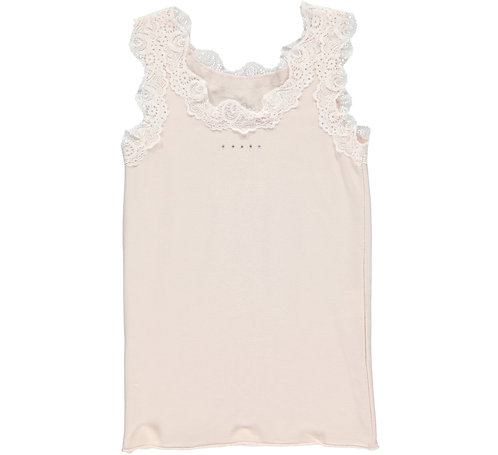 2622C - Top w.lace in Soft Rosa