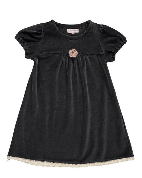2842K - Velvet dress - Granit grey
