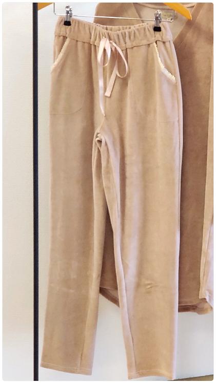3448C - Pants w.pockets - Rosa velvet