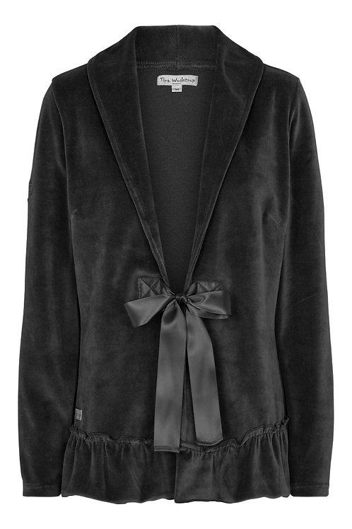 3762L - Velvet Jacket - Black