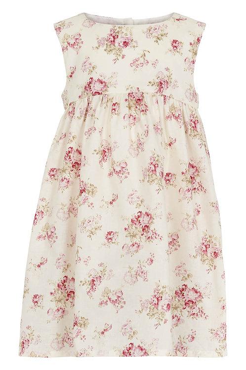 3554B - Flower print dress