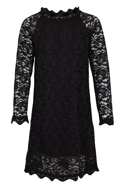 3461L - Lace Dress - Black