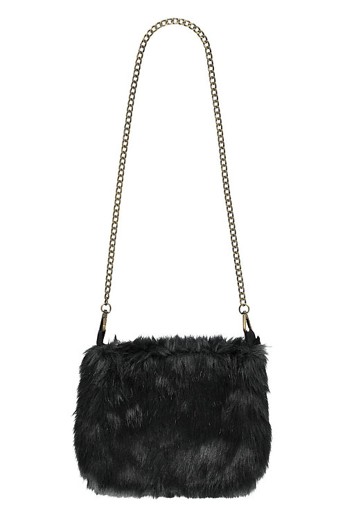Faux fur bag - Dark shadow