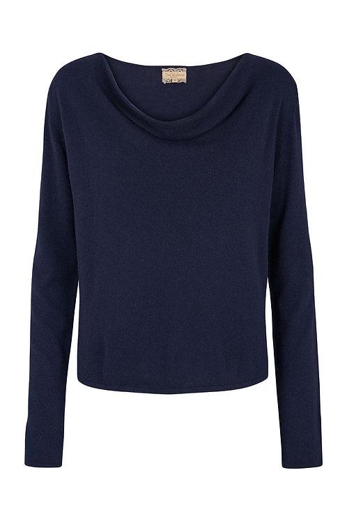 2547G - Cashblend drape blouse - Blue