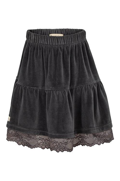 3454L - Velvet skirt - Dark shadow