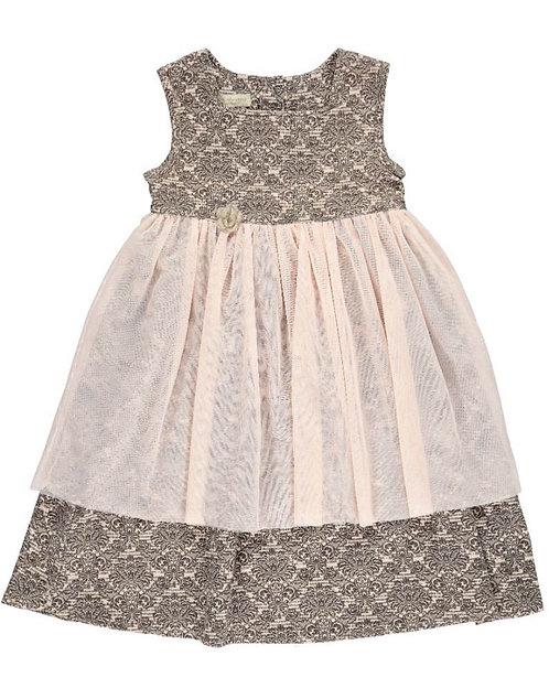 2530B - Prinsess dress w.tulle - Rosa
