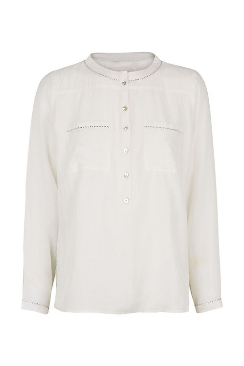 2598B - Viscose/cotton shirt - Off-white