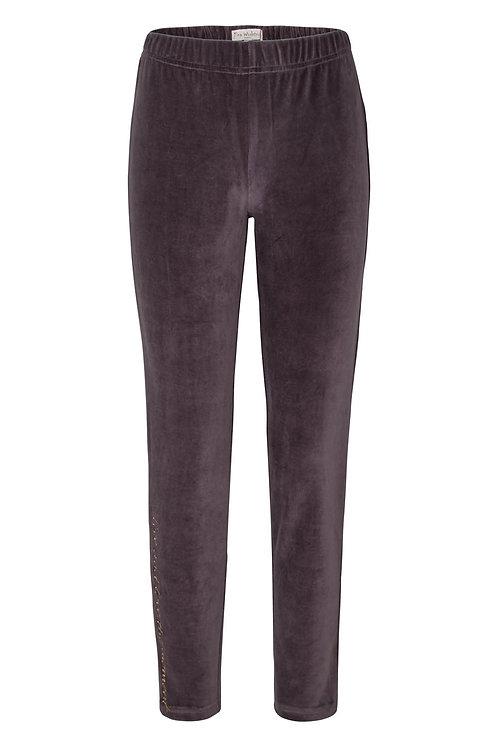 2840K - Velvet leggings - Grey/blue