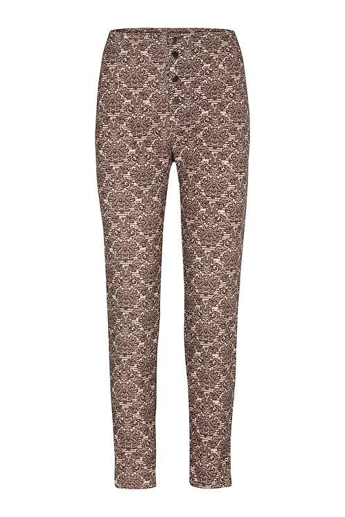 2522 - High waist pants – printet velvet