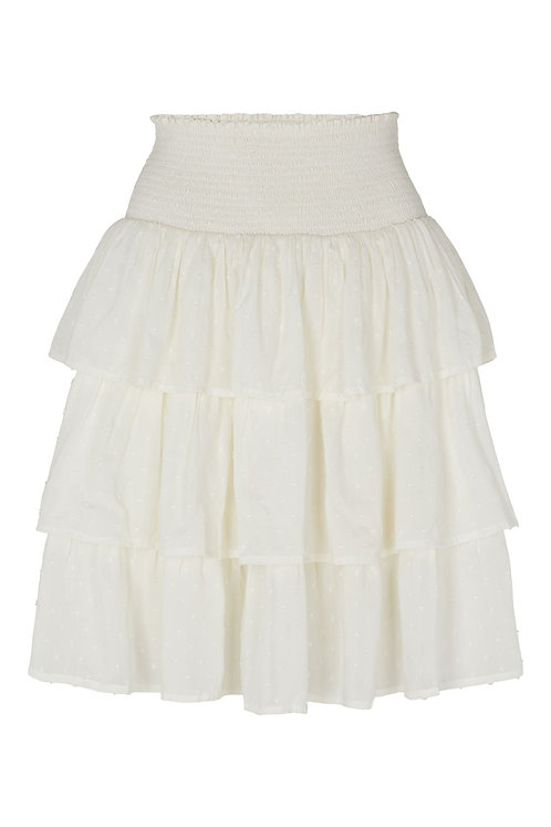 3814B - Modal frill skirt - Off-white