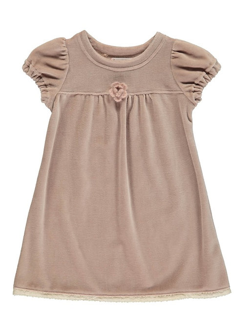 2842C - Velvet dress - Rosa